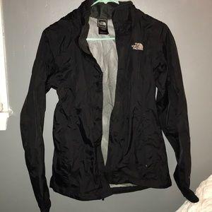 Black North Face Rain Jacket